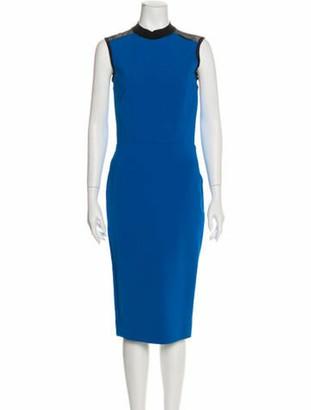 Victoria Beckham Sleeveless Midi Dress blue
