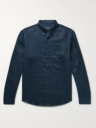 Club Monaco Slim-Fit Button-Down Collar Slub Linen Shirt
