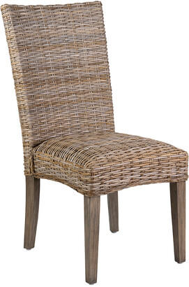East At Main Set Of 2 East At Main's Carina Rattan Dining Chair
