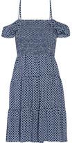 Tory Burch Cabarita Printed Voile Dress - Blue