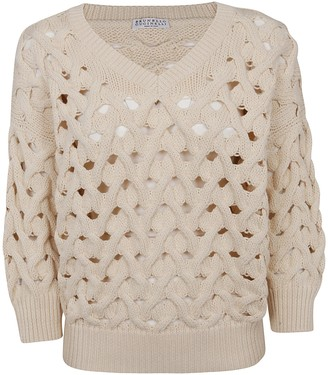 Brunello Cucinelli Perforated Sweater