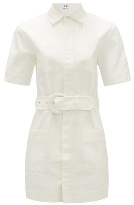 Sir - Sabine Belted Cotton Mini Shirt Dress - Womens - Ivory