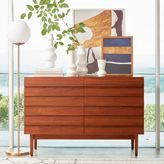 west elm Louvered 6-Drawer Dresser - Walnut