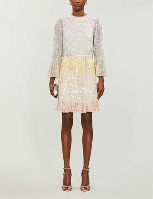 Needle And Thread Needle & Thread x Jasmine Hemsley Chakra sequin-embellished recycled-tulle mini dress