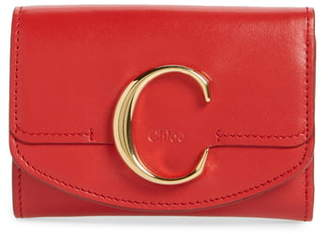 Chloé Mini C Leather Wallet