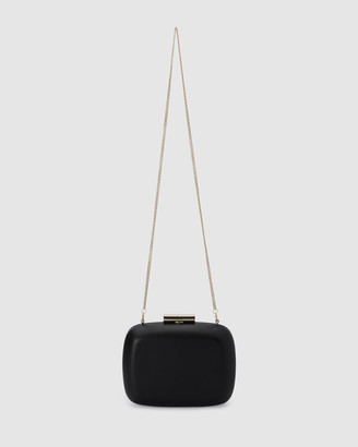 Olga Berg Women's Black Clutches - STELLA Ring Chain Clutch - Size One Size at The Iconic