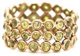 Tresor Collection - Rose cut organic diamond triple row ring band in 18k rose gold