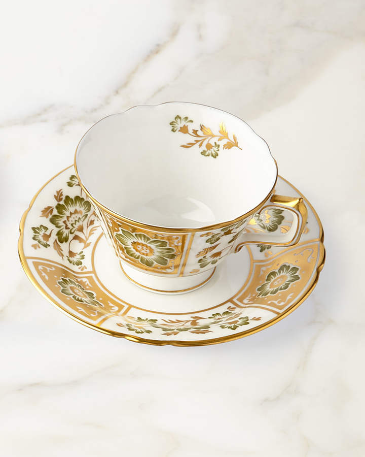 Royal Crown Derby Derby Panel Green Cup