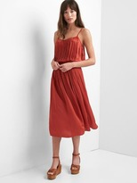 Gap Drapey pleated midi dress