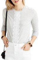 J.Crew Women's Long Sleeve Tee With Lace