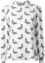 Equipment 'Grace' butterfly print shirt