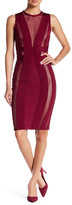 Wow Couture Mesh Contrast Bodycon Dress