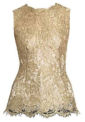 Dolce & Gabbana Women's Sleeveless Lace Top