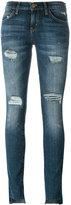 Current/Elliott Unevan Cut skinny jeans - women - Cotton/Polyester/Spandex/Elastane - 27