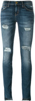 Current/Elliott Unevan Cut skinny jeans - women - Cotton/Polyester/Spandex/Elastane - 28