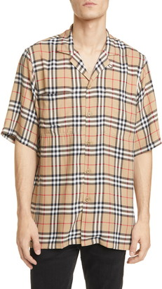 Burberry Raymouth Check Short Sleeve Button-Up Shirt