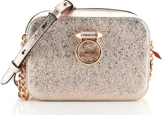 Christian Louboutin Rubylou Crossbody Bag Metallic Leather Mini