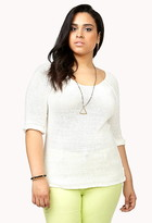 Forever 21 FOREVER 21+ Plus Size Relaxed Open-Knit Sweater