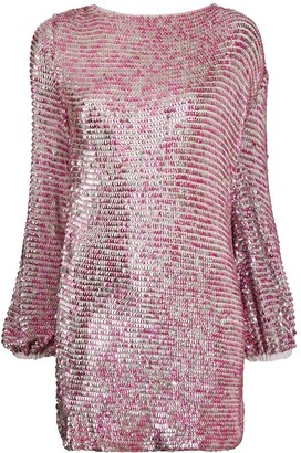 retrofete Sequinned Mini Dress