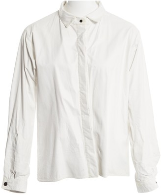 Anthony Vaccarello White Leather Jacket for Women
