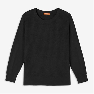 Joe Fresh Women+ Textured Sweater, JF Black (Size 2X)