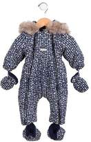 Jean Bourget Girls' Hooded Floral Snowsuit