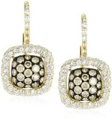 "KC Designs Tres Chic"" Champagne and White Diamond 14k Yellow Gold Earrings"