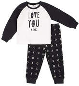 Petit Lem Two-Piece Love You XOXO Pyjama Set