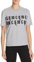 McQ by Alexander McQueen Classic Embroidered Cotton Tee