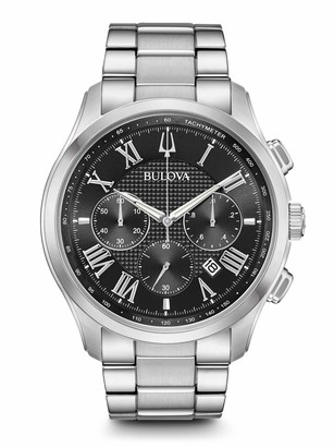 Bulova Mens Chronograph Quartz Watch with Stainless Steel Strap 96B288