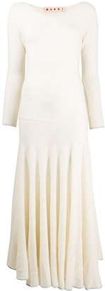 Marni Cashmere Pleated Long Dress