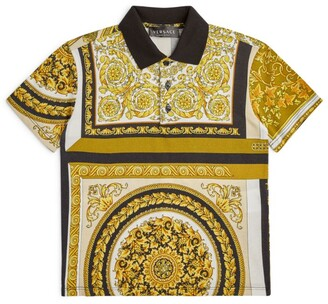 Versace Kids Baroque Print Polo Shirt (4-14 Years)