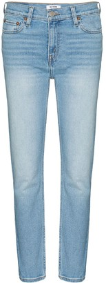 RE/DONE Cropped-Leg Skinny Jeans