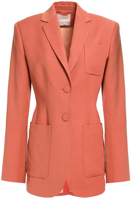 Roksanda Paneled Two-tone Twill Blazer
