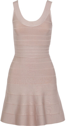 Herve Leger Eva Fluted Bandage Mini Dress