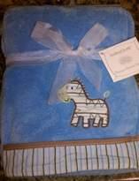 """Baby Gear babyGEAR light blue Zebra blanket 30""""X40"""