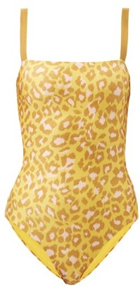 Zimmermann Carnaby Square-neck Leopard-print Swimsuit - Yellow Print