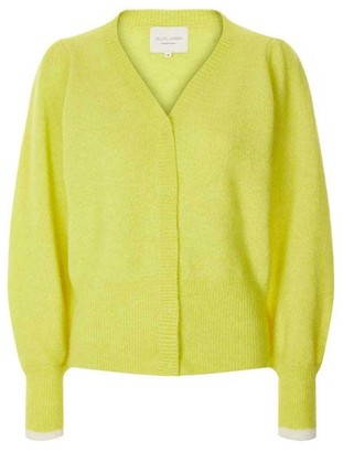 Lollys Laundry - Laura Cardigan Neon Yellow - S