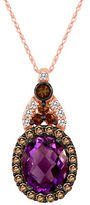 LeVian Amethyst, Chocolate Quartz and Vanilla Topaz 14K Rose Gold Pendant Necklace