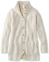 L.L. Bean Chunky Ribbed Sweater, Button-Front Long Cardigan