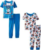 Thomas & Friends Thomas the Train Little Boys' Conductor Uniform 4 Piece Pajama Set