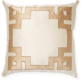Ann Gish Mariana Applique Silk Pillow