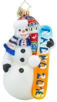 Christopher Radko 'Snow Extreme' Snowman & Snowboard Ornament