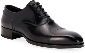Tom Ford Men's Formal Leather Cap-Toe Oxford Shoes