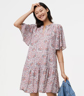 LOFT Flowerbud Button Sleeve Dress