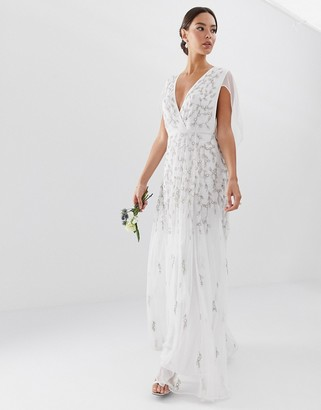 Asos EDITION embellished cape wedding dress