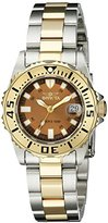 Invicta Women's 14372 Pro Diver Brown Dial Two Tone Stainless Steel Watch