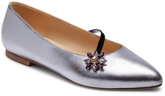 Alexis Isabel Anoki Metallic Leather Slippers