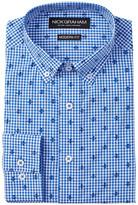 Nick Graham Fleur Di Lis Modern Fit Long Sleeve Dress Shirt