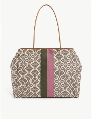 Kate Spade Spade Flower stripe and floral-jacquard tote bag